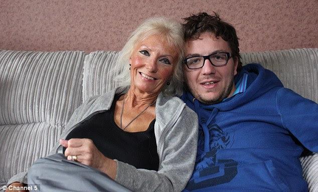 Toy boy: Joan, 68, and Phil, 29, met through Facebook