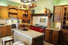 Country-Kitchen-With-Red-Accent - Minneapolis Painting Company