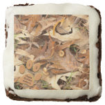Personalize: Abstract Nature Photo Autumn Colors Square Brownie