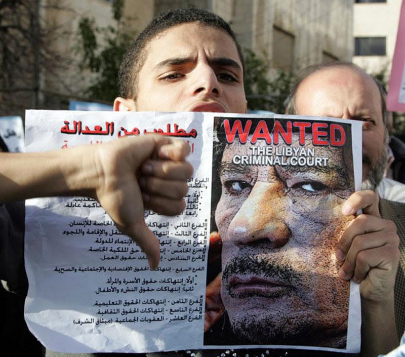 Протесты против Каддафи по всему миру