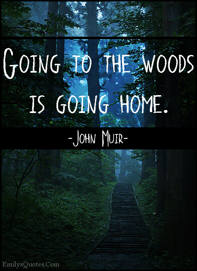 Going To The Woods Is Going Home Popular Inspirational Quotes At