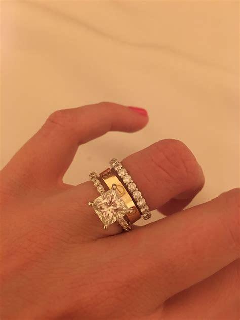 Thin E ring Thick wedding band
