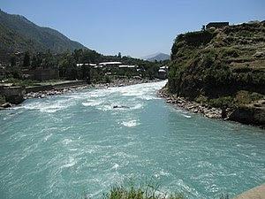 English: Swat River in NWFP Pakistan