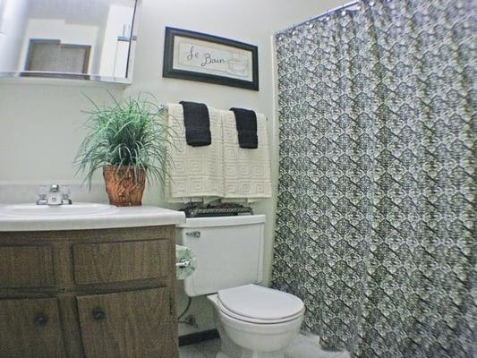 Cozy bathrooms.   Yelp