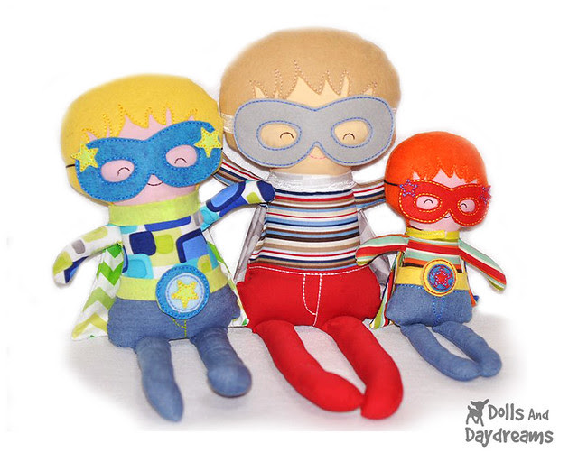Embroidery Machine  In The Hoop  ITH Superhero Boy Doll Pattern