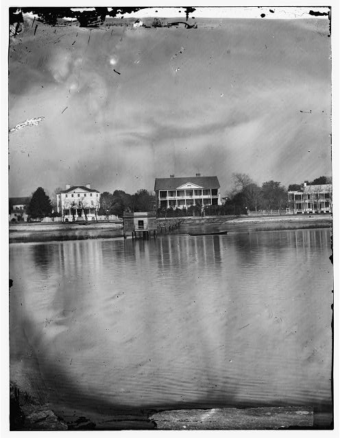 Beaufort, South Carolina. View of Beaufort from the waterfront. Fuller's House