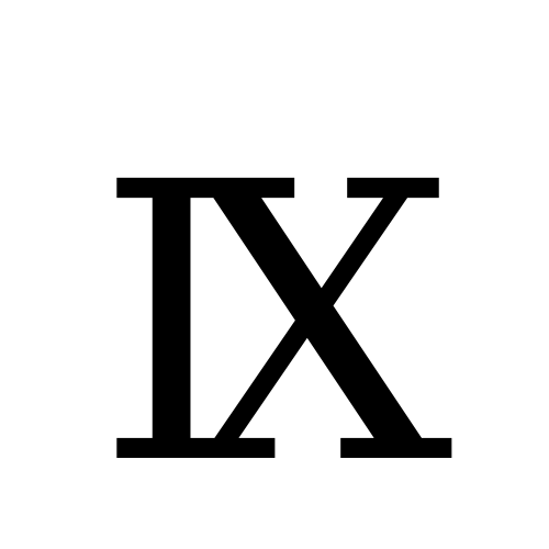 DejaVu Serif, Book - Ⅸ