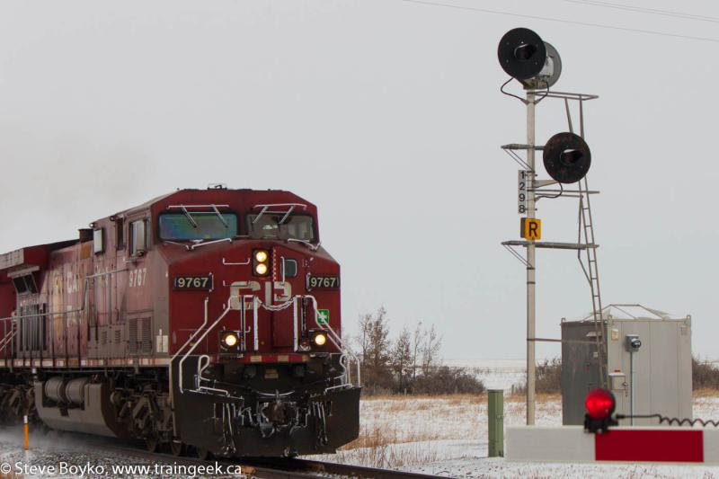 CP 9767 crossing highway 901 again