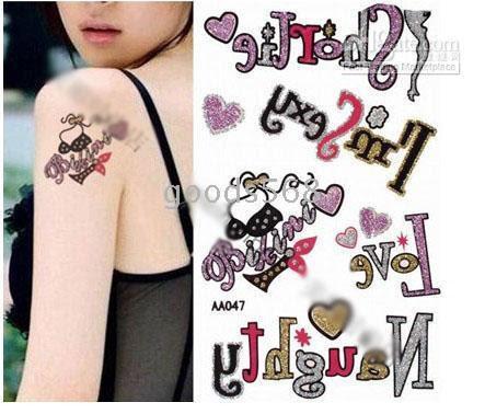 Wholesale - Waterproof Temporary Tattoos tattoo body art sticker(Color