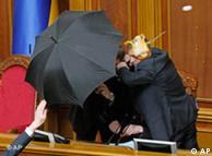 Ukrainian lawmakers in a physical altercation in the chambers