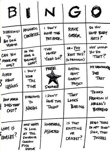 Stitch 'n' Pitch Chicago Bingo