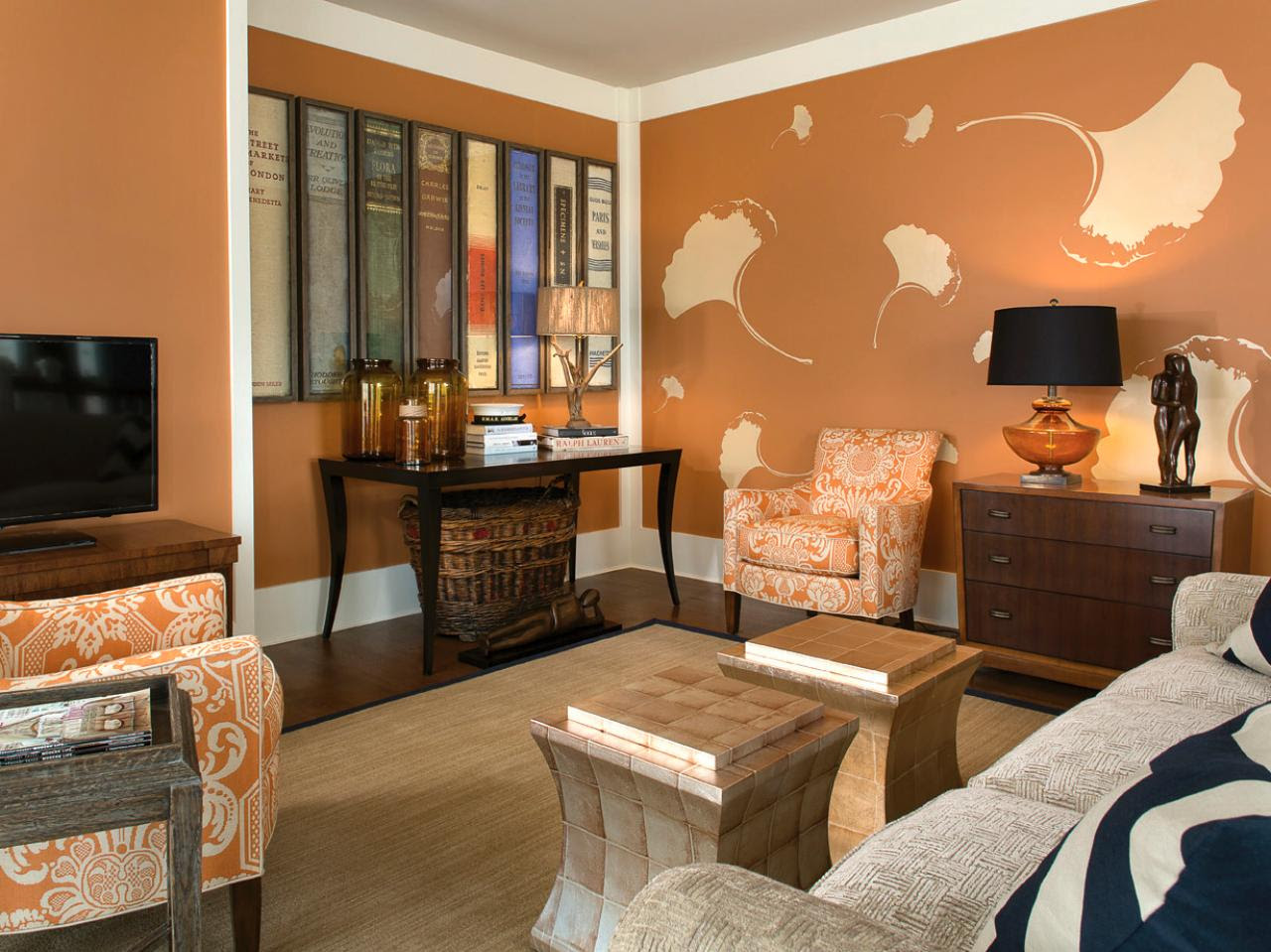 Orange Living Room Photos   HGTV