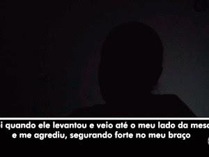 Enfermeira disse ter sido agredida por promotor na Bahia (Foto: Reprodução/TV Bahia)