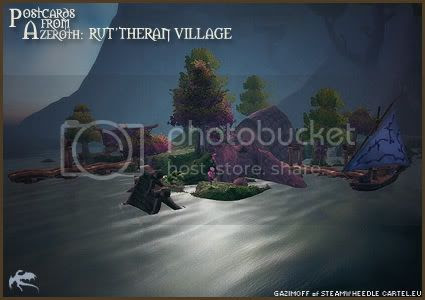 Postcards of Azeroth: Rut'theran Village, submitted by Gazimoff of Steamwheedle Cartel-EU