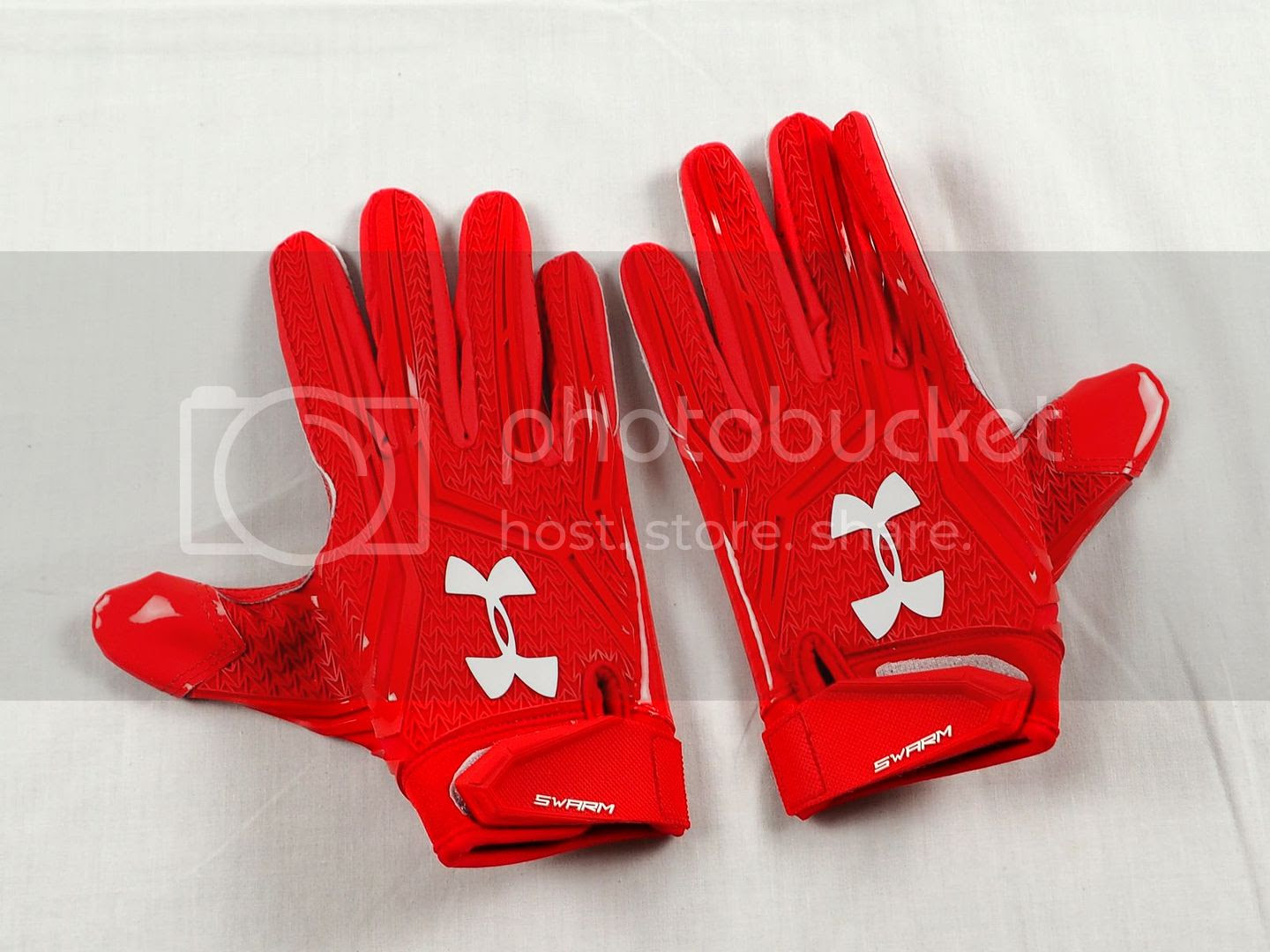 NEW Under Armour Swarm  Red NFL Receiver Gloves L  eBay