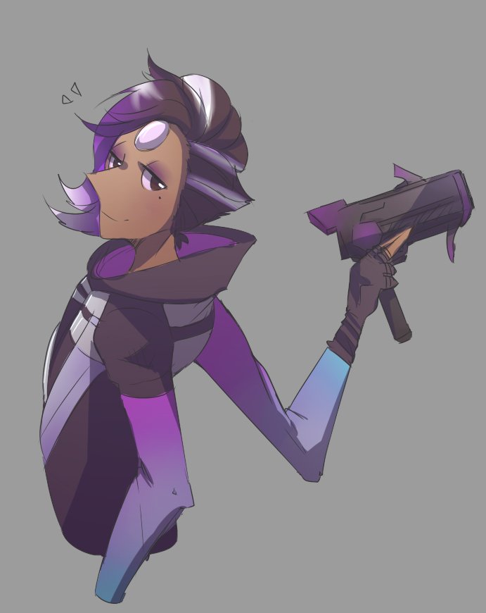 and then i actually colour in pearl as sombra genius crossover not really bonus: