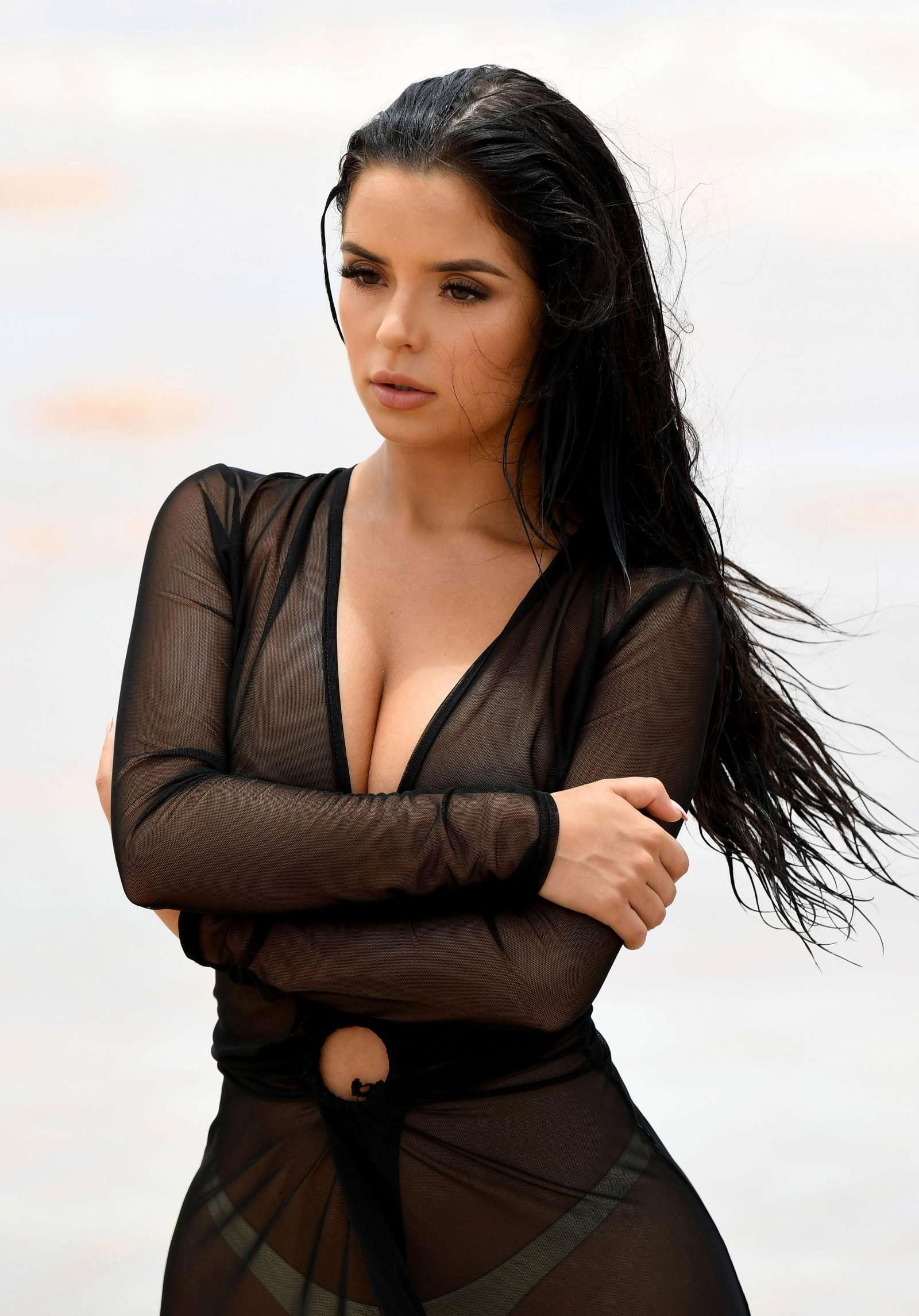 Demi Rose Photoshoot on a Beach in Cape Verde