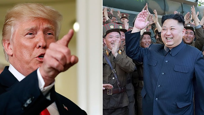Donald Trump and Kim Jong-Un: the war of words between the United States and North Korea continues to escalate.