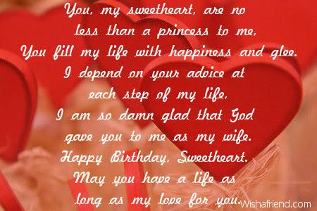 Wife Birthday Poems