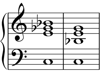 Dominant seventh flat five chord on C