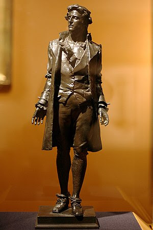 WLA brooklynmuseum Nathan Hale bronze