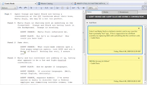 Comic Book Script Writing Software