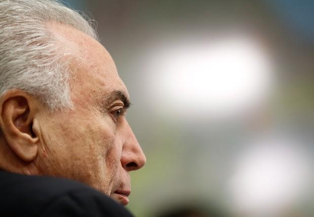 O presidente Michel Temer em reunião no Planalto (Foto: Beto Barata/PR)