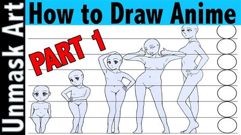 draw anime part  proportions creating