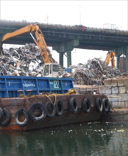 Metal to be recycled at the Scrap Yard