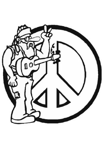 Coloriage Peace Love