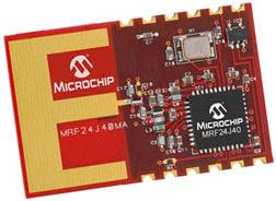 MRF24J40MA 2.4 GHz IEEE 802.15.4 radio transceiver module