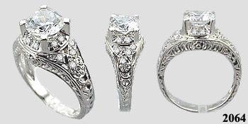 Wedding rings cz sale
