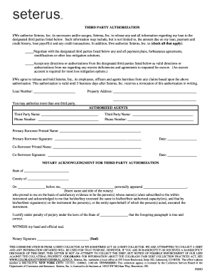 seterus third party authorization form Fill Online, Printable ...