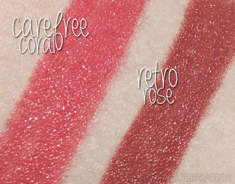 Mary Kay Hello Sunshine Creamy Lip Colour- Carfree Coral and Retro Rose (2)