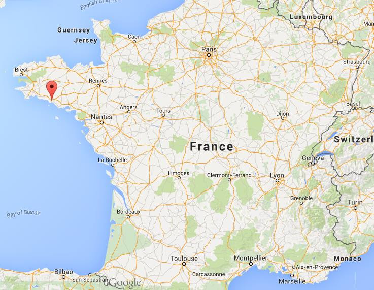 Where is Lorient on map France