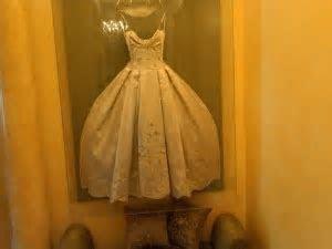 I love how Adrienne Maloof framed her wedding dress. Such