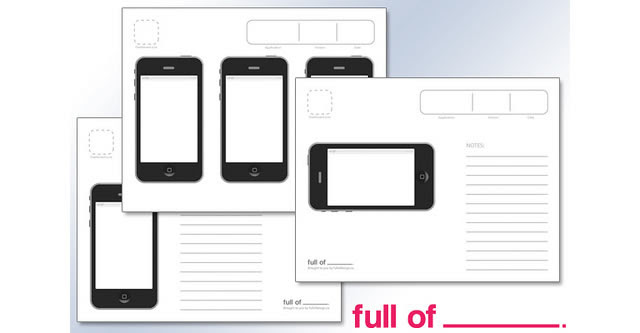 iPhone App plantillas Wireframe