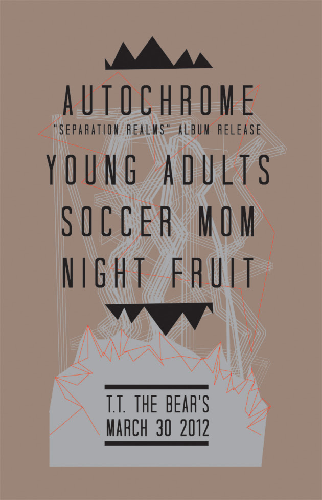 Autochrome Record Release Show With Soccer Mom, Young Adults and Night Fruit | TT The Bear's, Cambridge | 30 March
