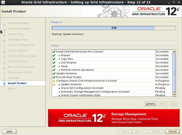 Oracle 12c RAC install on Laptop