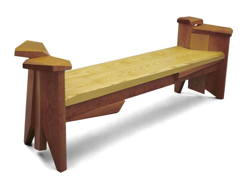 Entryway Bench: indoor benches in Wood & Concrete | Nico Yektai