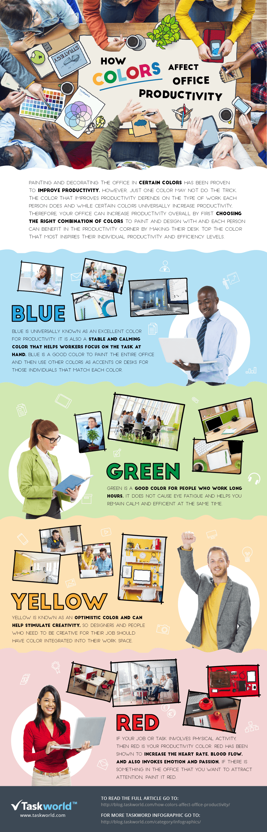 Infographic: How Colors Affect Office Productivity