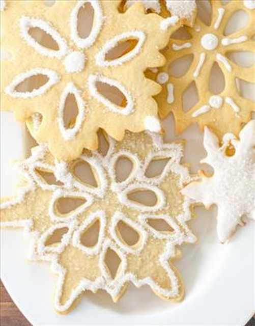 softened at room temperature for close an lx minutes  Snowflake Sugar Cookies Made Simply