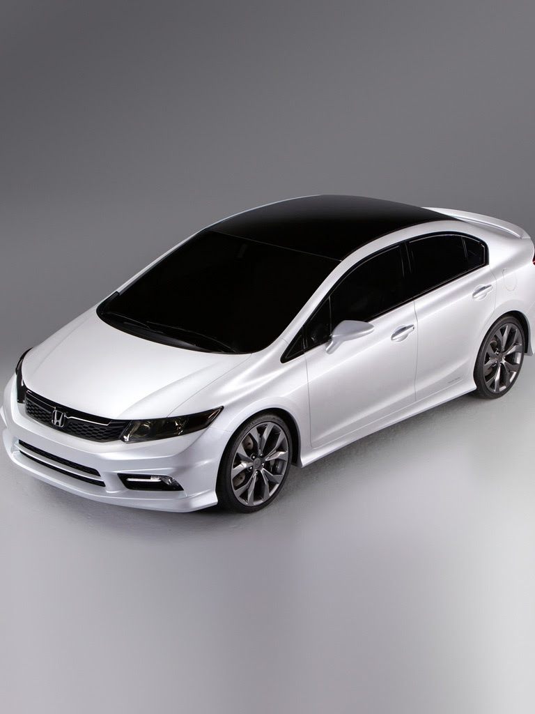 Cars - Honda Civic Concept Car - iPad iPhone HD Wallpaper Free