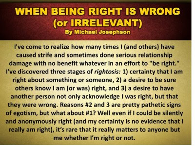 Being Right Doesnt Make The Other Person Wrong The Philosophy Of