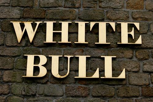 White Bull Sign