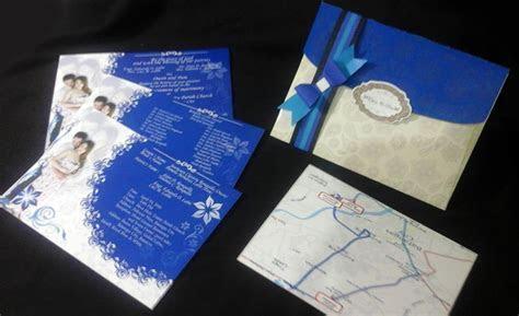 Wedding Invitations: Elegant in Royal Blue Motif ~ Stain