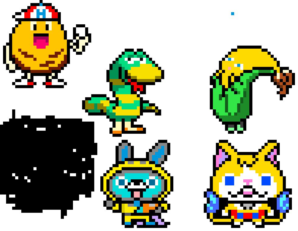 Yo Kai Watch 3 Pixel Art Maker