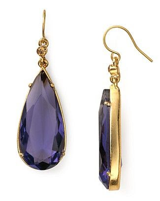 Carolee Lux Candy Couture Large Teardrop Earrings