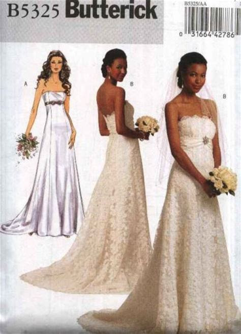 Butterick Sewing Pattern 5325 Misses Size 14 22 Strapless