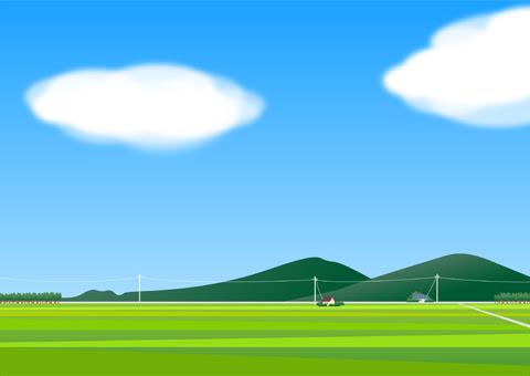 夏の風景 素材イラスト 彩クリweb